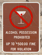 Alcohol Possession Prohibited