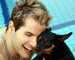 Guy and Dog