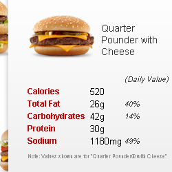 quarter pounder with cheese nutrition