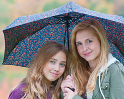 Friends Under an Umbrella