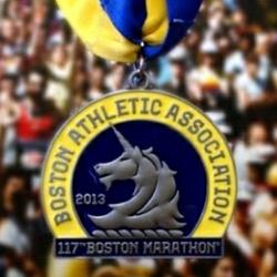 117th Boston Marathon Finishers Medal 2013