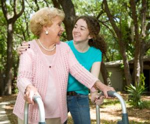 Grandmother & Teen Laughing